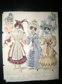 World of Fashion 1829 Hand Col Fashion Print 13